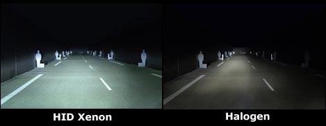 xenon bulbs vs halogen bulbs